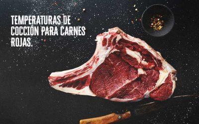 TEMPERATURAS DE COCCIÓN IDÓNEOS PARA LAS CARNES ROJAS